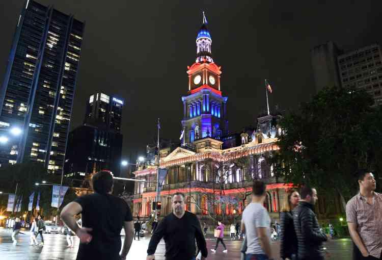La mairie de Sydney, en Australie, le 14 novembre.