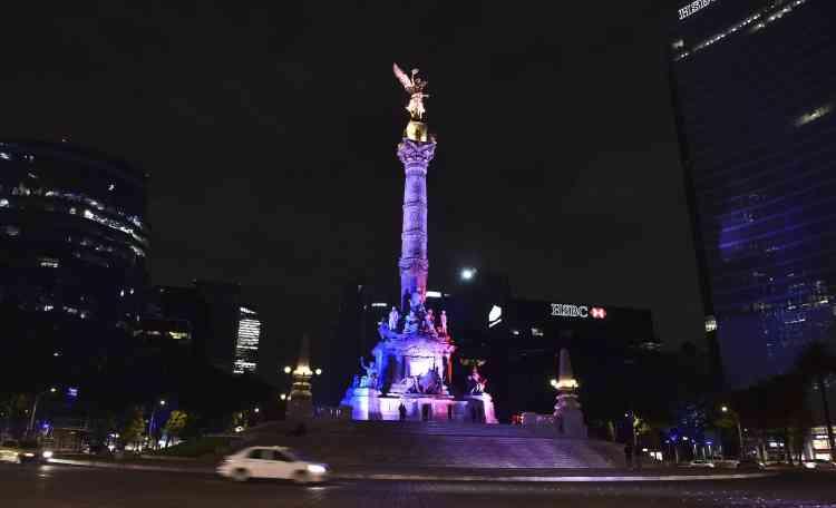 La Colonne de l'indépendance, à Mexico, au Mexique le 14 novembre.