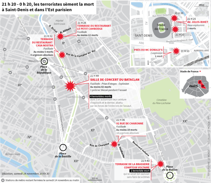 Bataclan Concert Hall Paris Map.What You Need To Know About Paris Attacks And The Situation In France