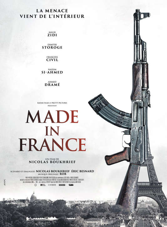 "Affiche du film ""Made in France"", de Nicolas Boukhrief."