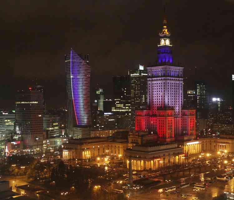 A Varsovie, Le palais de la culture.