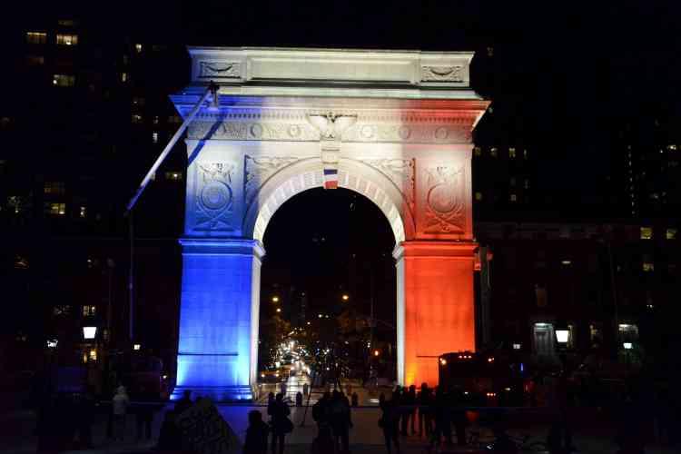 L'arc dédié à George Washington, à Washington Square, à New York, le 14 novembre.