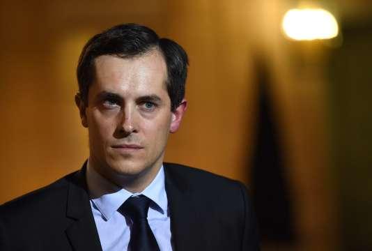 Nicolas Bay, député européen du Front national, le15novembre2015.