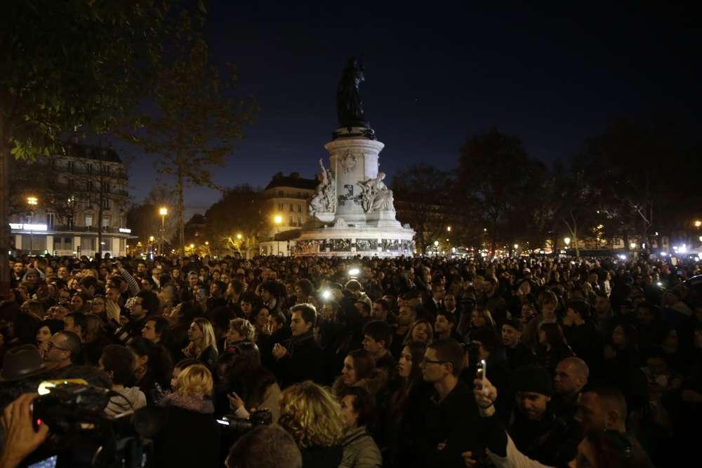 La Place de la république le 15 novembre au soir.