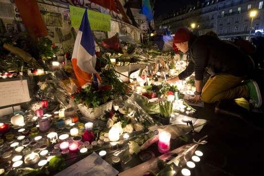 Sur la place de la République, le 15 novembre.