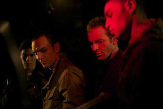 De gauche à droite, François Civil (Christophe), Dimitri Storoge (Hassan), Malik Zidi (Sam) et Nassim Si Ahmed (Driss).