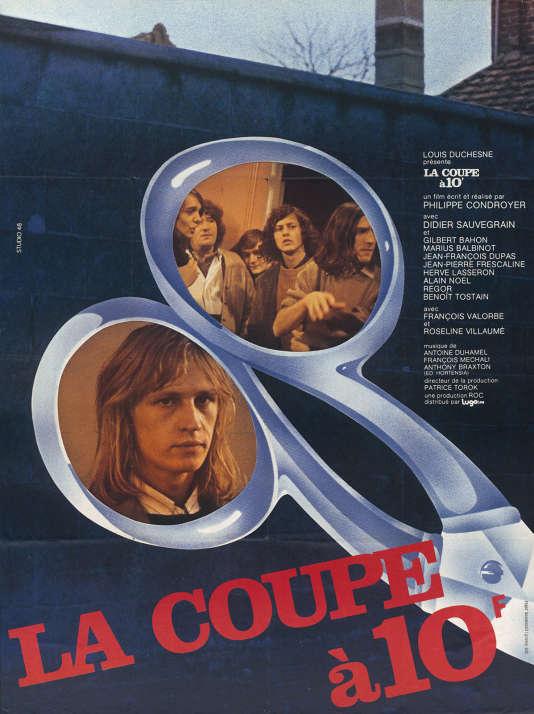 """Affiche du film """"La Coupe à 10 francs"""", de Philippe Condroyer (1975). ressortie en salles le 18 novembre 2015."""