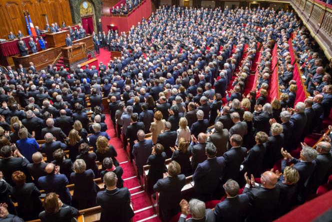 François Hollande, devant le Parlement réuni en Congrès.