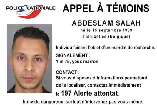 L'avis de recherche concernant Abdeslam Salah