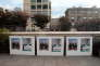 Des affiches des têtes de listes des Républicains et du PS pour les régionales en Provence-Alpes-Côte d'Azur, à Marseille.