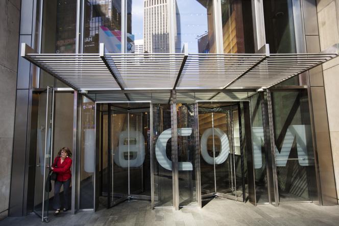 L'entrée du siège de Viacom, à New York, le 12 novembre.