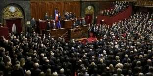 Les parlementaires français réunis en congrès à Versailles, le 16 novembre 2015.