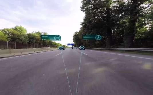 Le pare-brise sera capable d'indiquer si la voiture qui double ou qui vous précède roule en mode autonome ou non.