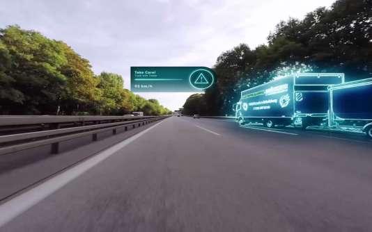Les nouveaux véhicules ne seront pas équipés d'un pare-brise ordinaire mais d'un revêtement sur lequel il sera possible de projeter des messages et des images en 3D.