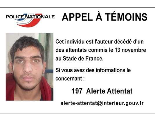 L'un des kamikazes du Stade de France, celui à proximité duquel a été retrouvé un passeport syrien.