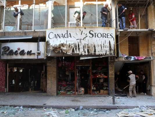 Au lendemain du double-attentat de Beyrouth dans le quartier de Bourj El-Barajneh, le 13 novembre.