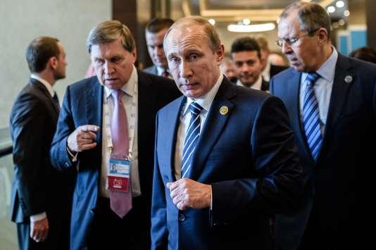Vladimir Poutine lors du G20 à Antalya, en Turquie, le 16 novembre.