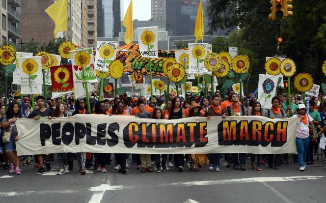 La marche pour le climat à New York, en septembre2014.