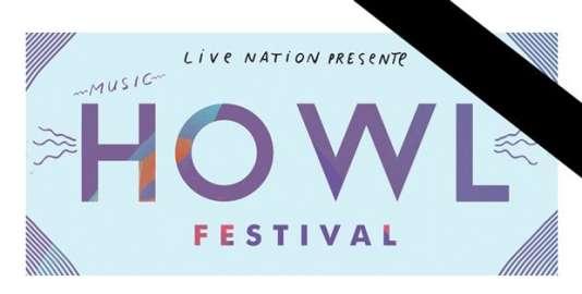 Comme pour d'autres spectacles annoncés annulés, un bandeau noir accompagne le visuel du Howl Festival initialement prévu dans plusieurs salles parisiennes du 18 au 21 novembre.
