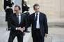 François Hollande et Nicolas Sarkozy à l'Elysée le 15 novembre 2015.