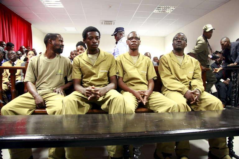 """Des """"revus"""" lors de leur procès, débuté le 16 novembre 2015. Ces militants """"révolutionnaires"""" sont opposés au président dos Santos."""