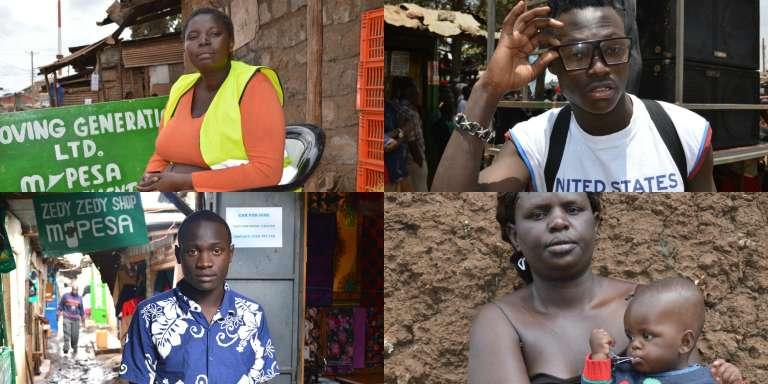 Photos issues du projet  Humans of Kibera. Chaque habitant du quartier se raconte ou exprime une revendication sous son portrait publié en ligne.