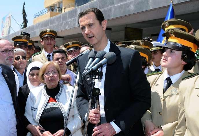 Le président syrien Bachar Al-Assad à Damas en mai.