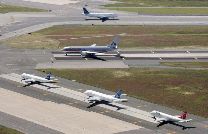 Des avions à l'aéroport international John Fitzgerald Kennedy de New York, en 2008.