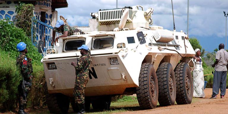 Un blindé de la Monusco à Beni, dans la province du Nord-Kivu en octobre 2014.