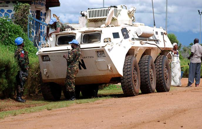Casques bleus de la Monusco en République démocratique du Congo (2014).