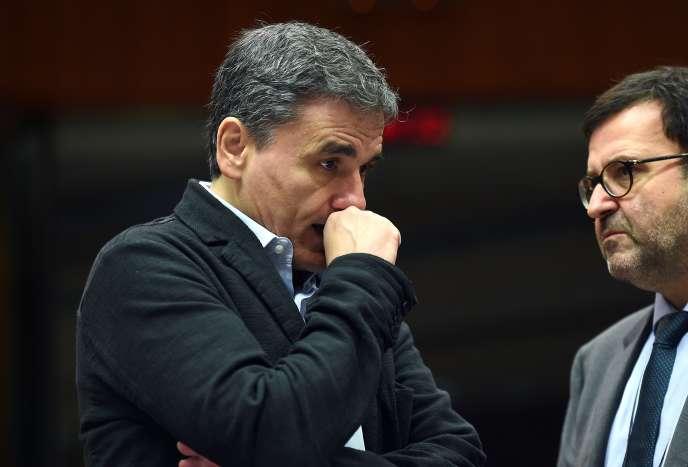 Le ministre des finances grec, Euclide Tsakalotos, à Bruxelles le 10 novembre 2015.