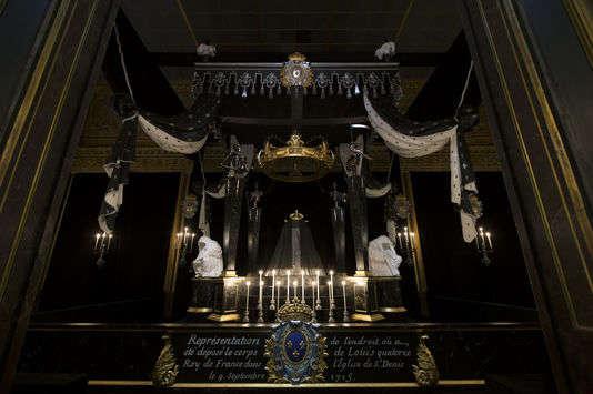 La chapelle ardente de Louis XIV.