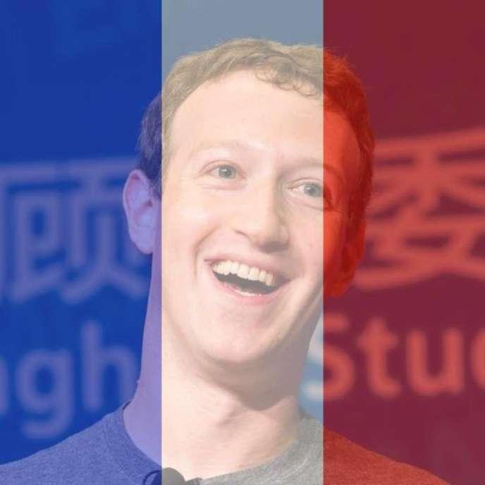 Le filtre tricolore proposépar Facebook, appliqué àlaphoto de profil du PDG du réseau social, MarkZuckerberg.
