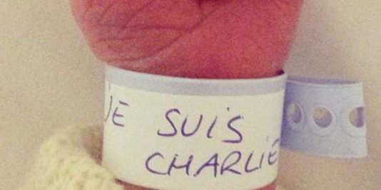 """Cette image, référencée sur le site Hoaxbuster, spécialisé dans la vérification d'informations virales sur internet, a été utilisé en janvier après les attentats de """"Charlie Hebdo"""" et de l'Hyper Cacher. La même, portant l'inscription """"On est tous Paris"""", circule actuellement."""