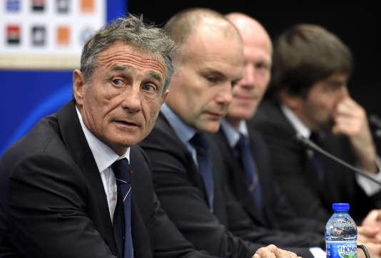 Guy Novès en conférence de presse, le 13 novembre à Marcoussis.