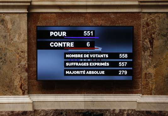 Les résultats du vote, jeudi 19 novembre, à l'Assemblée sur la prorogation de l'état d'urgence.