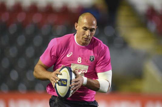 Le joueur du Stade français Sergio Parisse.