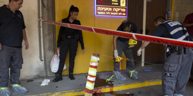 Des policiers israéliens à Tel Aviv, le 19 novembre.