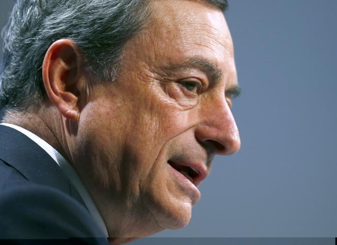 Le président de la BCE, Mario Draghi, lors d'un discours à Francfort vendredi 20 novembre.
