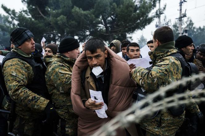 A la frontière entre la Grèce et la Macédoine, le 20 novembre.