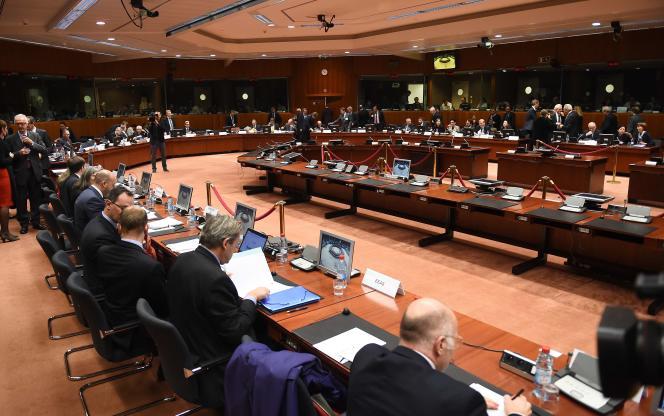Réunion extraordinaire à Bruxelles des ministres européens de l'intérieur et de la justice, le 20 novembre.