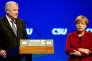 Horst Seehofer, président de la CSU, et Angela Merkel, la chancelière allemande, vendredi 20 novembre, à Munich.