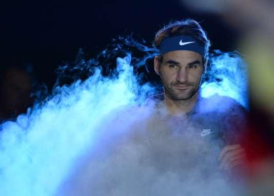 Roger Federer, le 19 novembre 2015, au Masters de Londres.