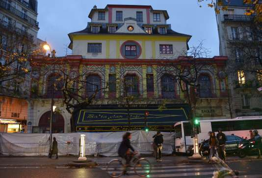 Le Bataclan à Paris le 20 novembre 2015.