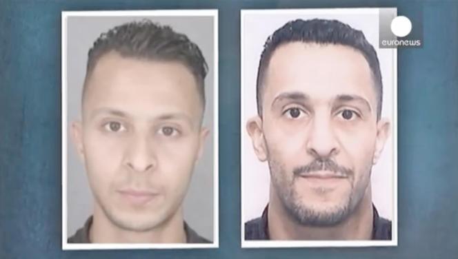 Salah et Brahim Abdeslam. Capture d'écran Euronews.