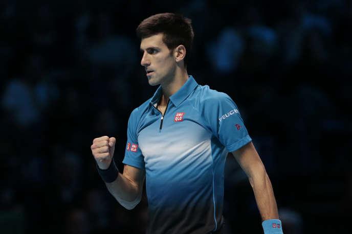 Novak Djokovic, le 22 novembre 2015, en finale du Masters de Londres.