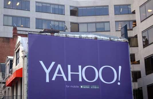 Le sigle de Yahoo! en août 2015.