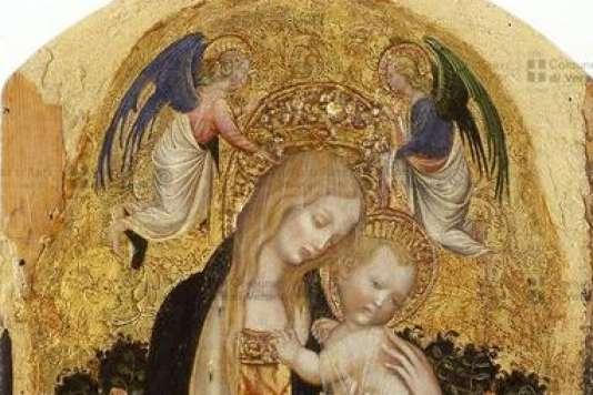 """Un des tableaux volés : """"Madonne à la caille"""", d'Antonio Pisano, dit Pisanello, vers 1420."""