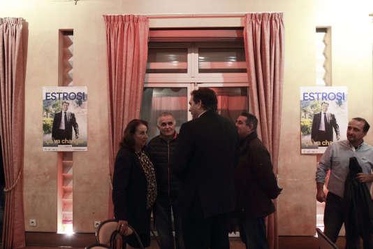Meeting de Christian Estrosi à Grasse (Alpes-Maritimes), le 19 novembre.