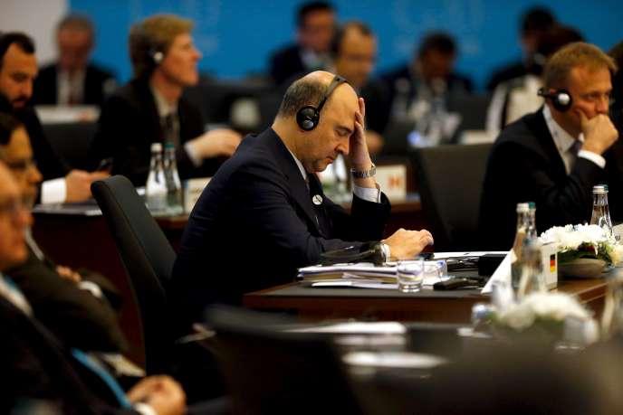 Pierre Moscovici au G20 à Antalya en Turquie le 15 novembre 2015.